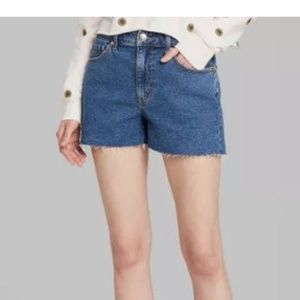 NWT Wild Fable High-Rise Mom Denim Shorts